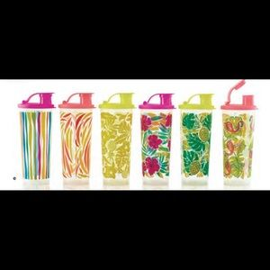 New! Tupperware tropical glamour tumblers